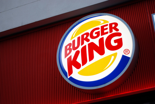 Sign Of Burger King In Liverpool Stock Photo - Download Image Now