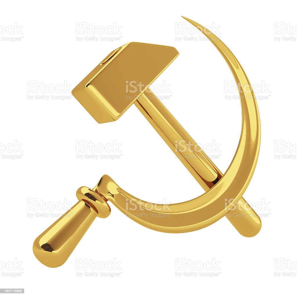 Sign of Communism stock photo