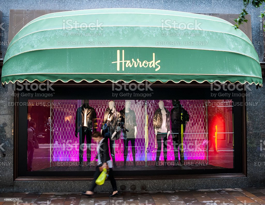 Sign of Harrods, London, UK. stock photo