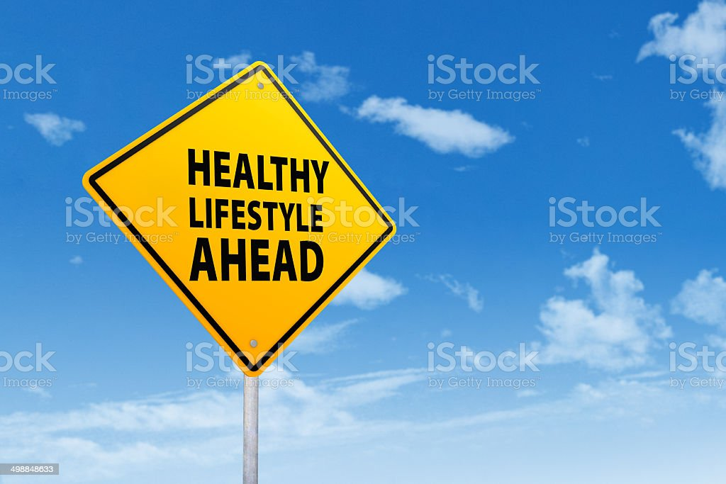 Sign of healthy lifestyle stock photo