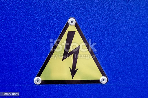 Sign of high voltage