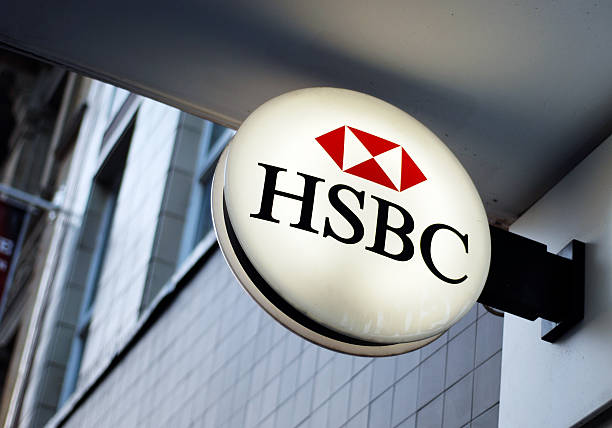 Sign of HSBC bank in Liverpool  hsbc stock pictures, royalty-free photos & images