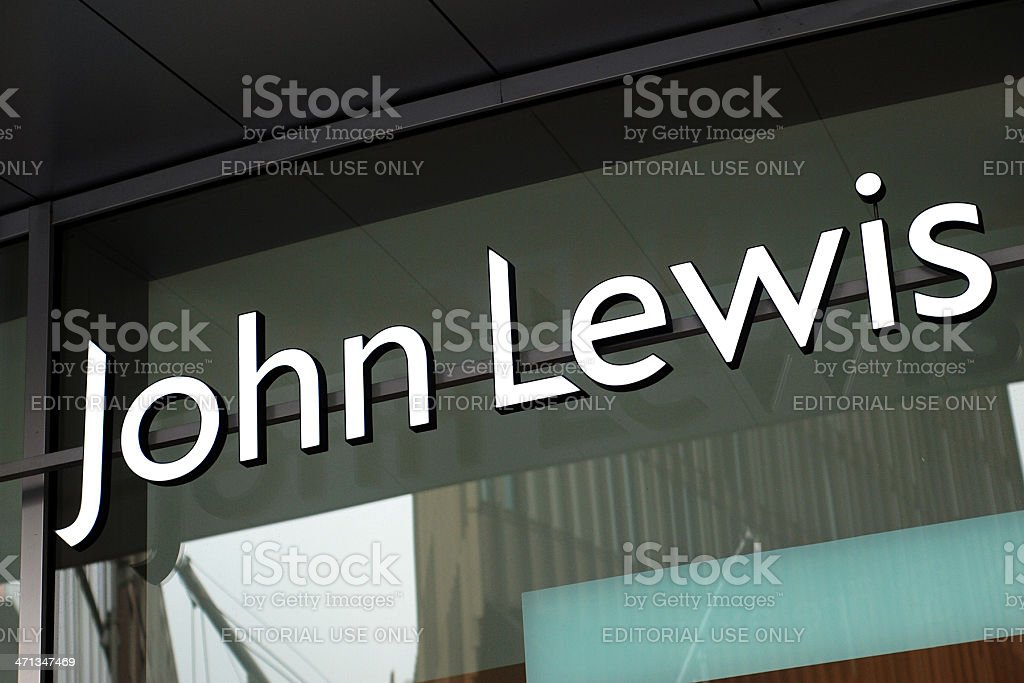 Sign of John Lewis store in Liverpool stock photo