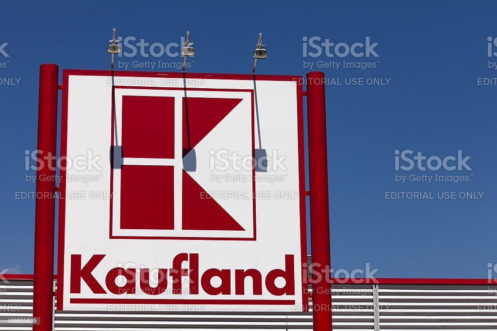 Sign of Kaufland stock photo