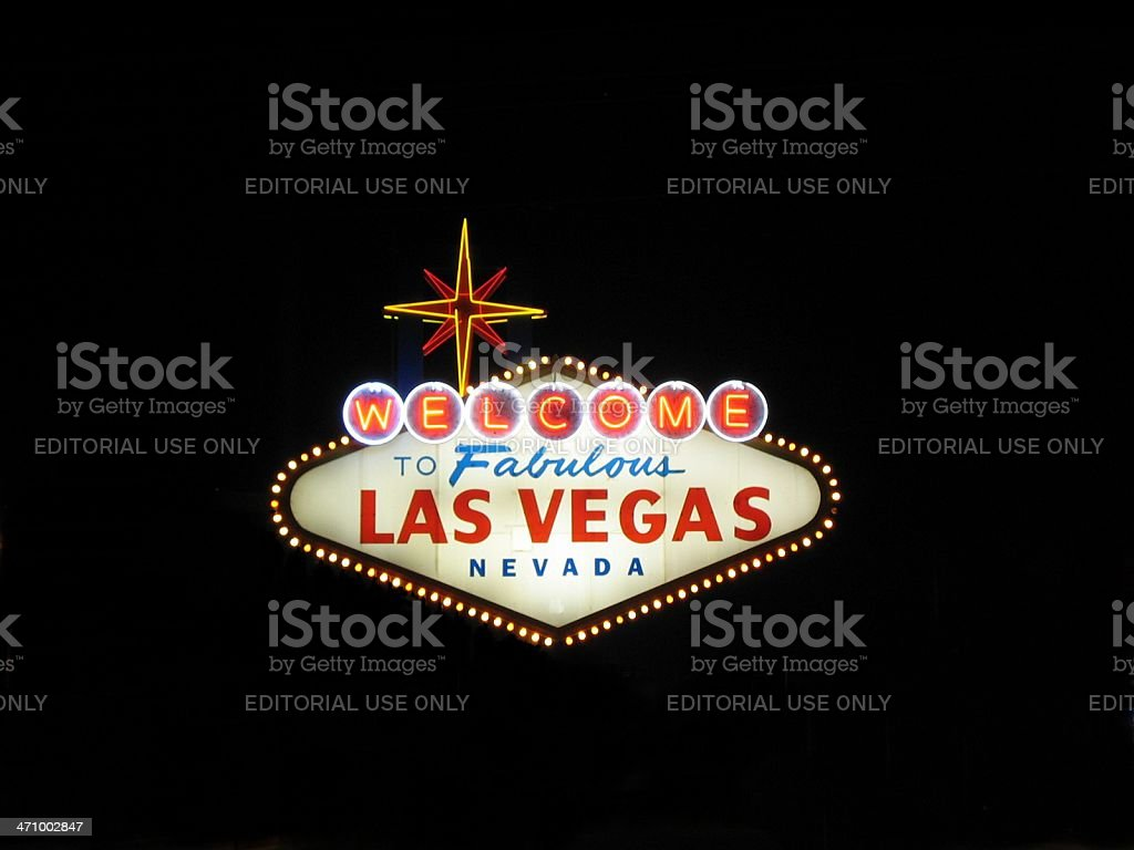 THE Sign of Las Vegas stock photo