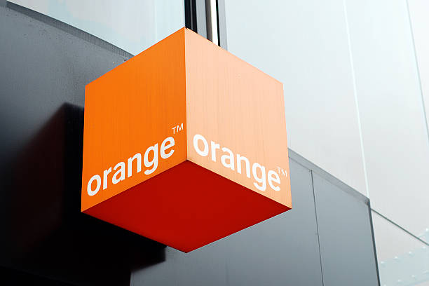 Sign of Orange store in Liverpool stock photo