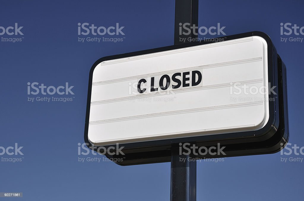 Sign of Recession royalty-free stock photo