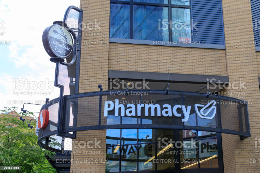 Sign of Safeway pharmacy, American supermarket chain in Portland, Oregon stock photo