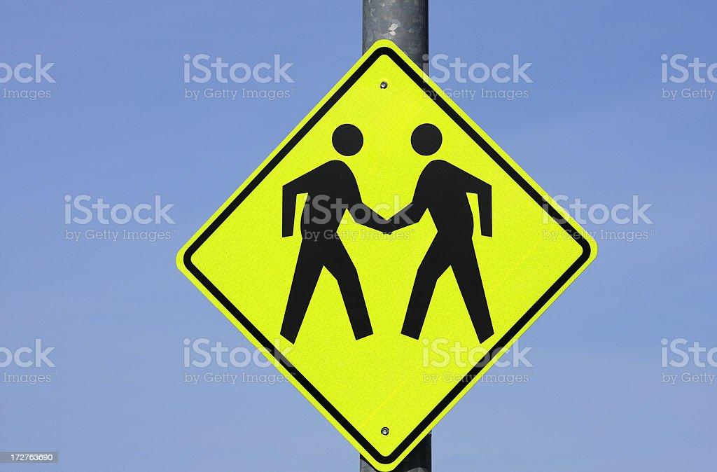 Signe de stick figures se serrant la main - Photo