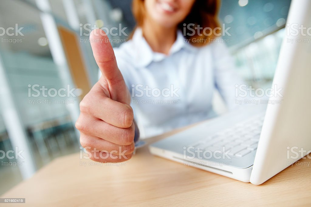 Sign of success stock photo