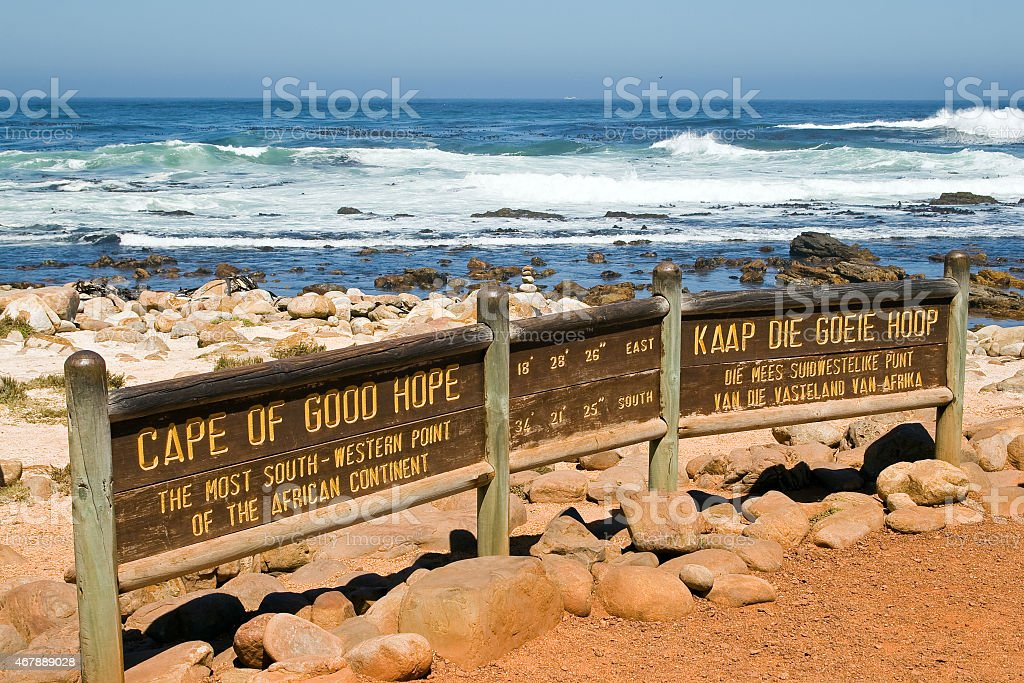 Sign of the Cape of Good Hope. stock photo