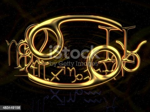 istock Sign of the zodiac - Cancer 483449158