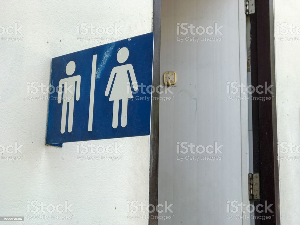 sign of toilet room royalty-free stock photo