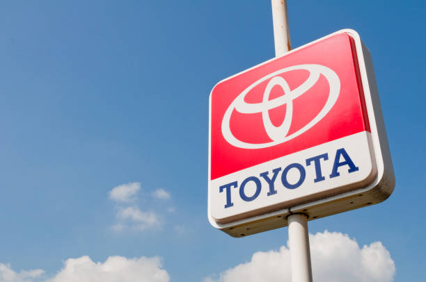 Sign of Toyota stock photo