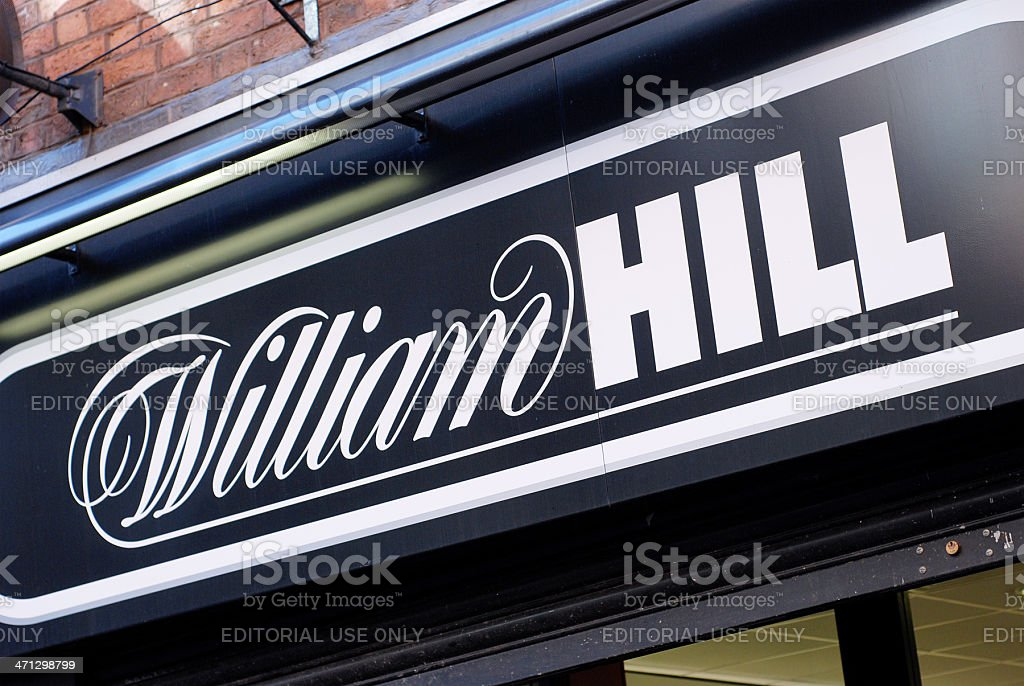 Sign of William Hill bookmakers in Liverpool stock photo