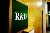 R&D (Research And Development) Sign On A Wall