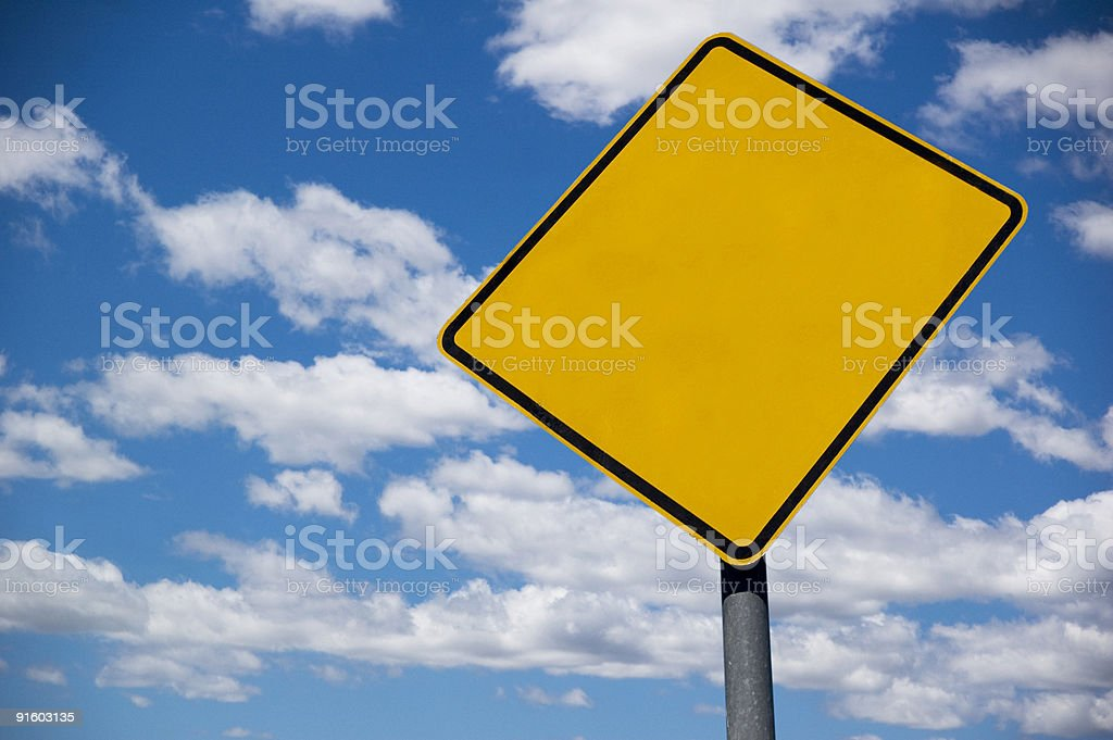 Sign on Blue Sky royalty-free stock photo