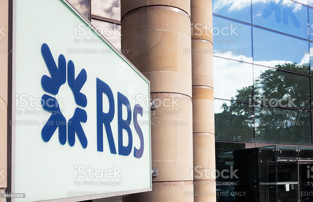 RBS sign on office exterior stock photo