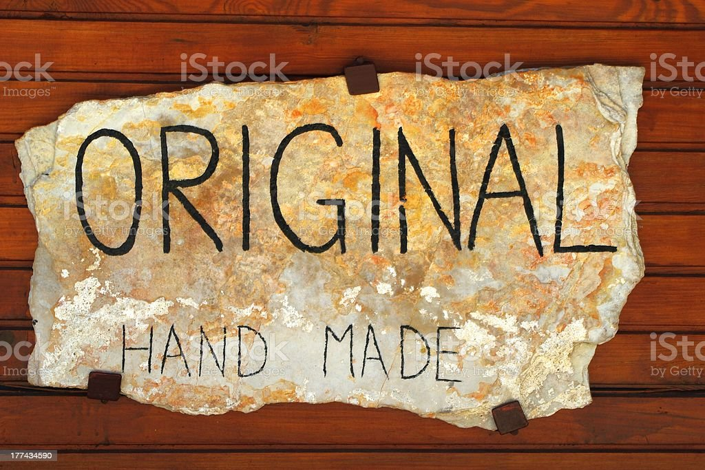 sign on stone royalty-free stock photo