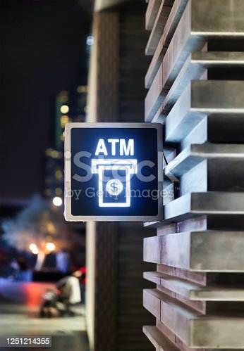 945598452 istock photo ATM sign on wall 1251214355