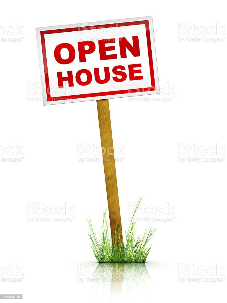 Firmare-Open House foto stock royalty-free