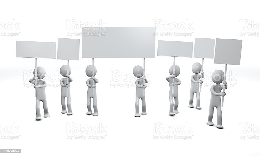 Sign people. Three-dimensional,  isolated on white royalty-free stock photo