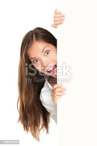 istock Sign people - woman peeking 153523343