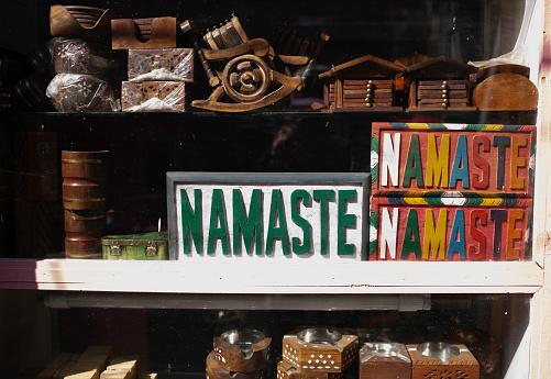 NAMASTE sign