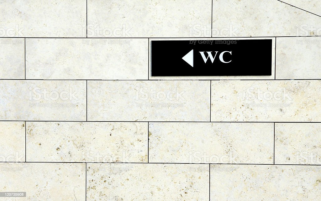 WC sign royalty-free stock photo
