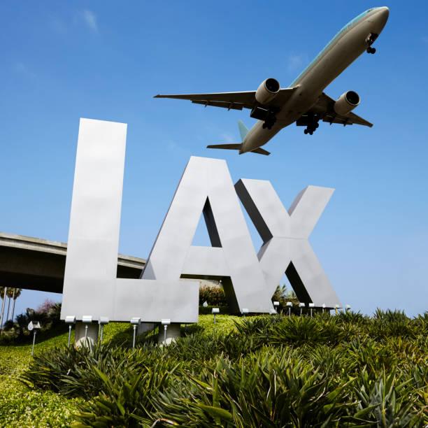 Placa de LAX - foto de acervo