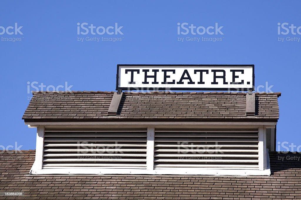 THEATRE Sign stock photo