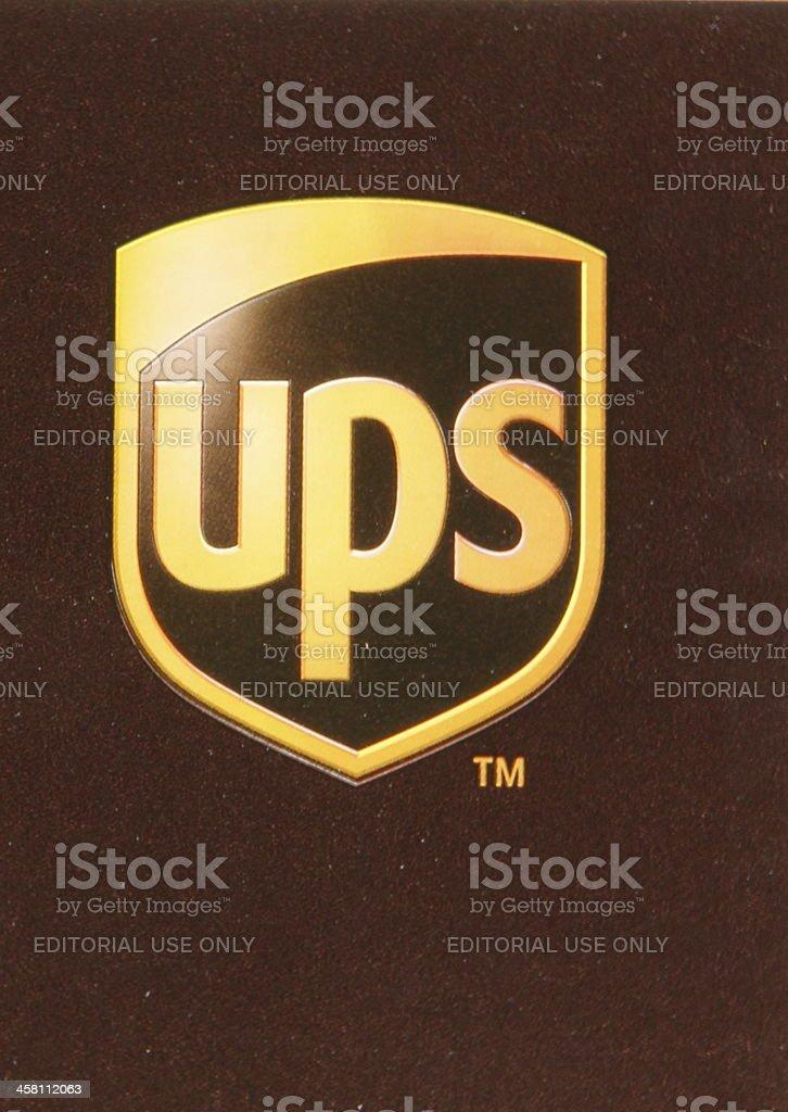 UPS Sign stock photo