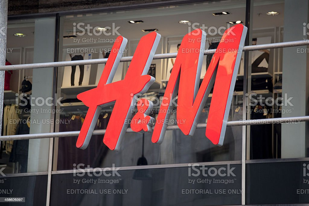 H&M sign stock photo
