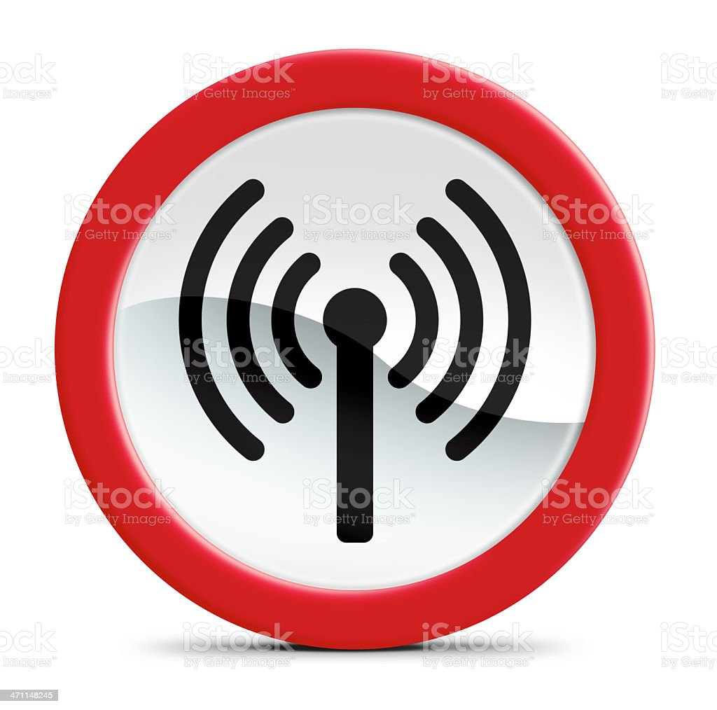 Sinal de Wi-Fi - foto de acervo