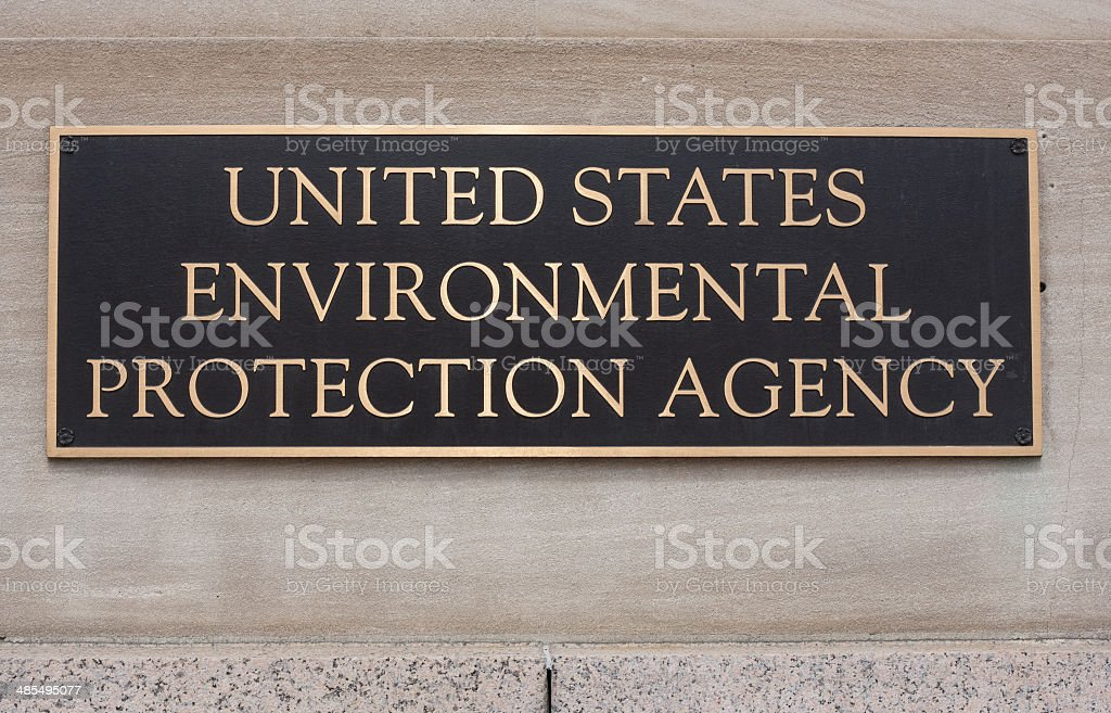 EPA Sign stock photo