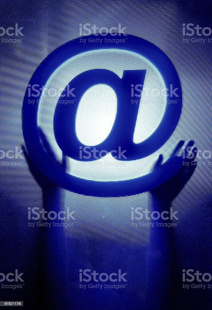 @ (at) sign royalty-free stock photo