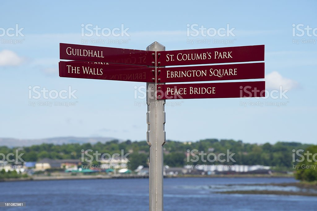 Landmarks in Derry, Northern Ireland stock photo