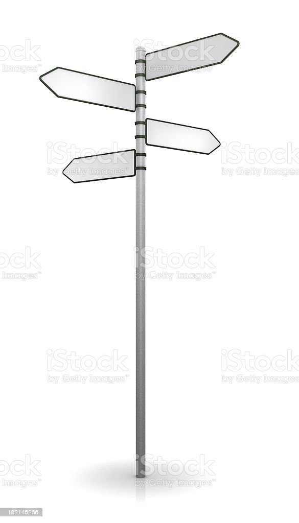 Sign post on white royalty-free stock photo