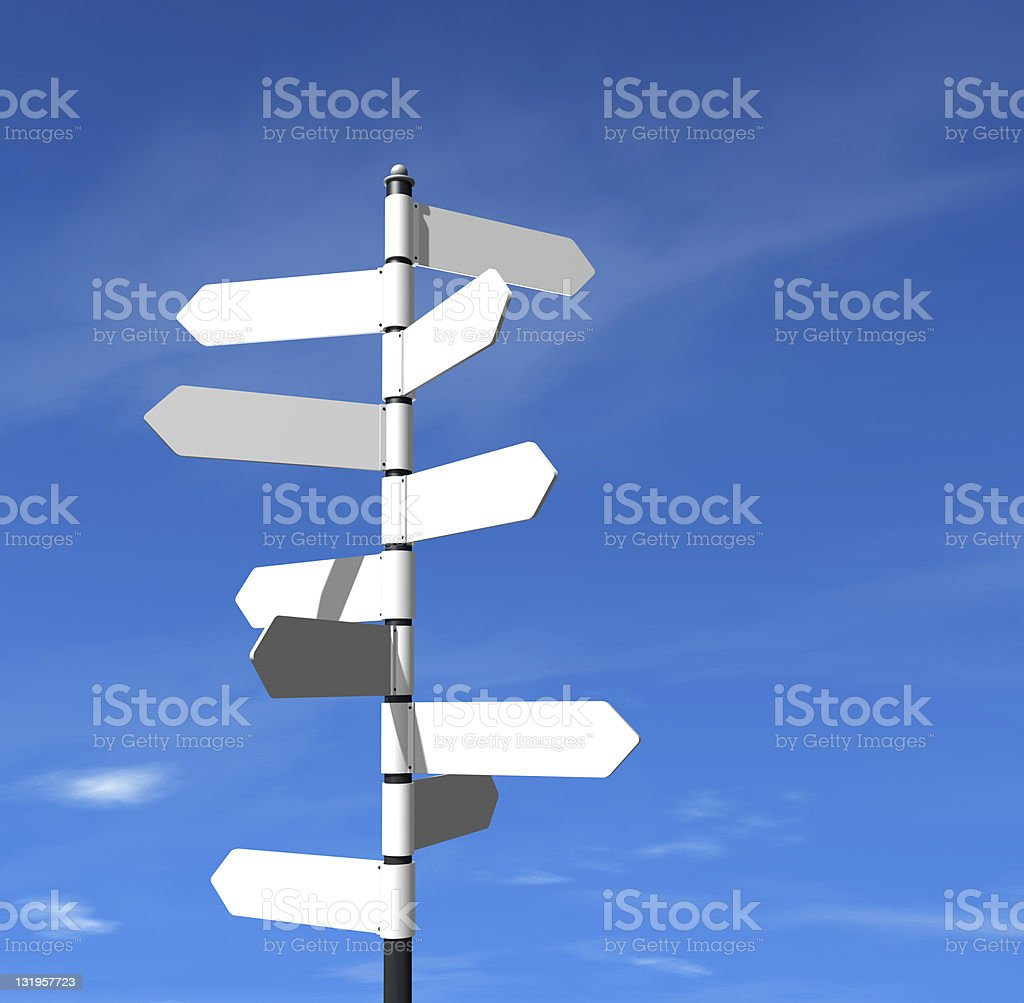 sign post royalty-free stock photo
