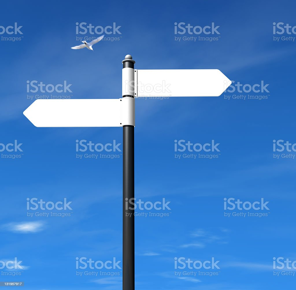 Sign Post stock photo