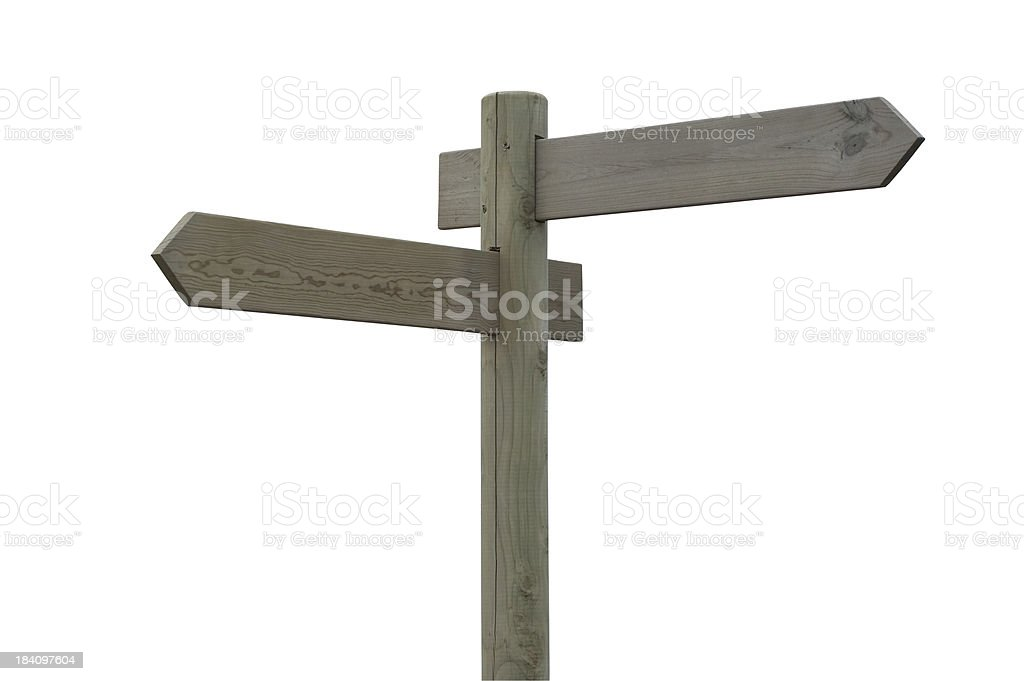 Sign post (isolated) stock photo