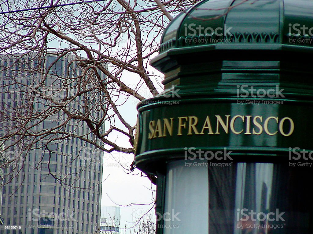SF Sign Post stock photo