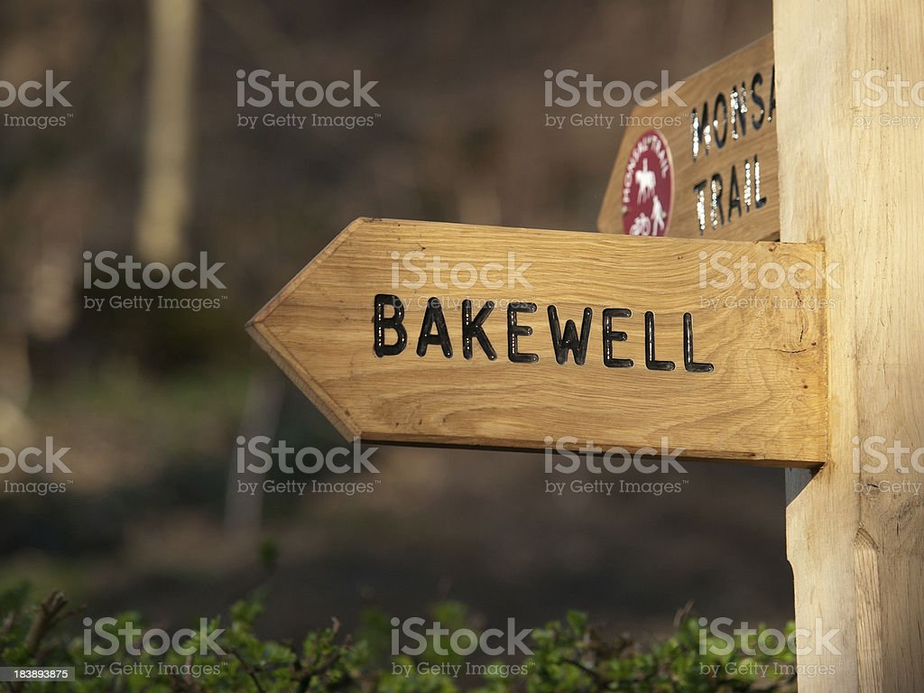 Sign Post to Bakewell stock photo