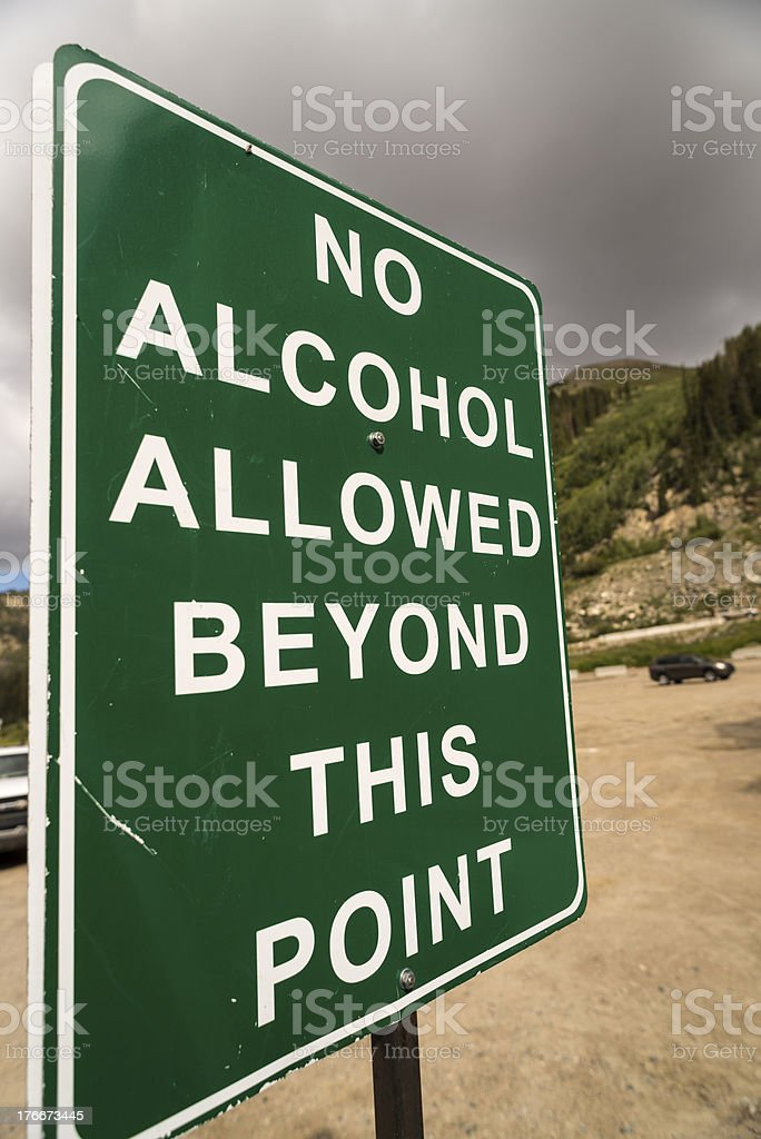 Sign Prohibiting Alcoholic Beverages royalty-free stock photo