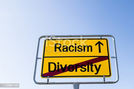 istock Sign Racism instead of Diversity 1125667420