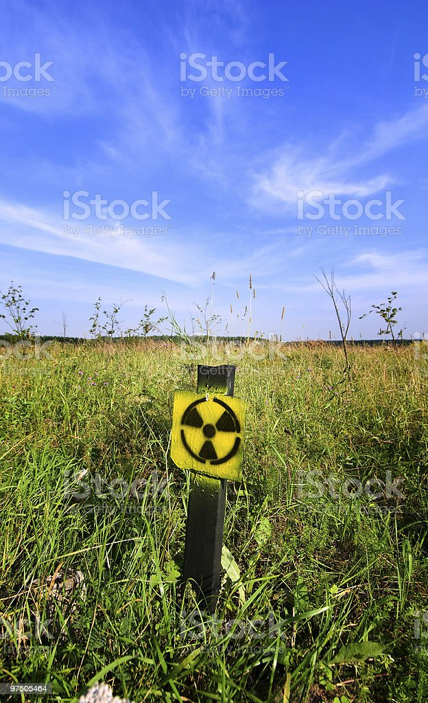 Sign radiation hazard royalty-free stock photo