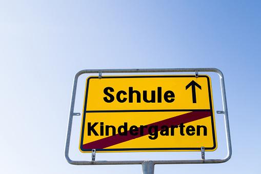 """Sign School Nursey german """"Schule Kindergarten"""""""