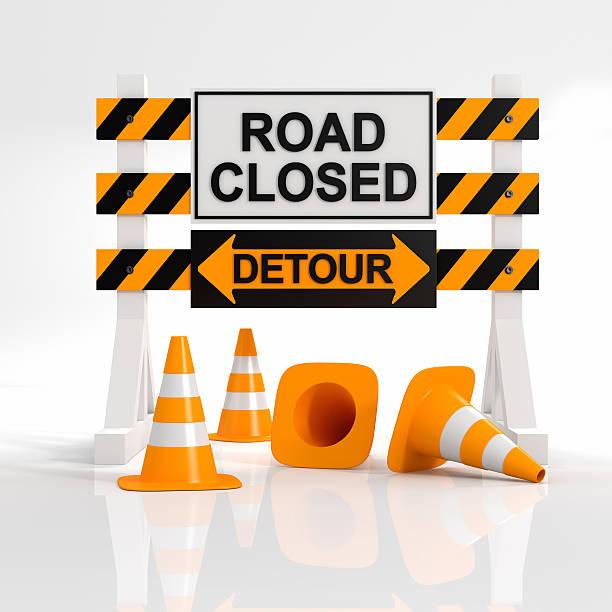 Road closed - foto stock