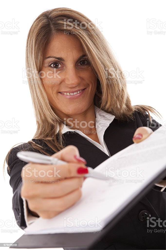Sign the contract, please royalty-free stock photo