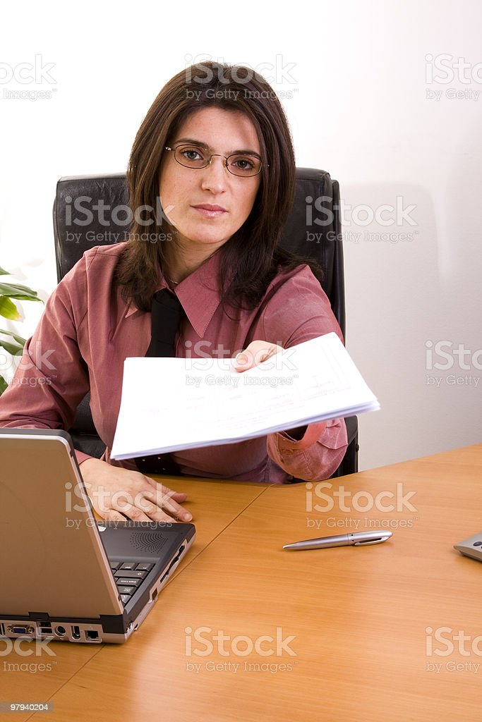 Sign this contract royalty-free stock photo